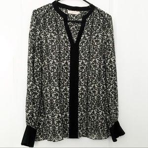Tory Burch Jessica Silk Tunic Black Print
